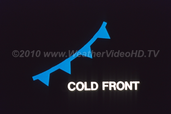 Weather Symbol Cold Front Royalty Free Stock Weather Videos And