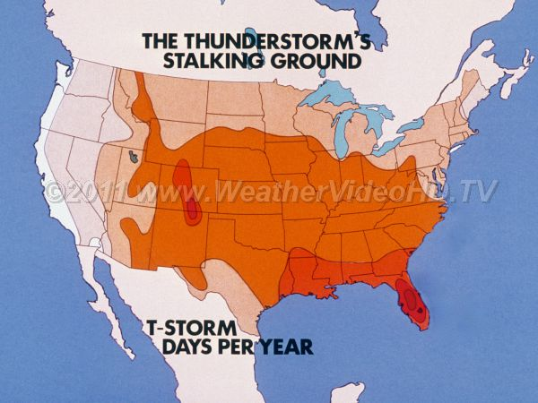 Thunderstorm Frequency Map Royalty Free Stock Weather Videos And - Us thunderstorm map
