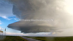 Hail Machine A rotating supercell is spewing hail in all directions, including onto the chase vehicle. Near Boxelder, SD. 15 June 2014.
